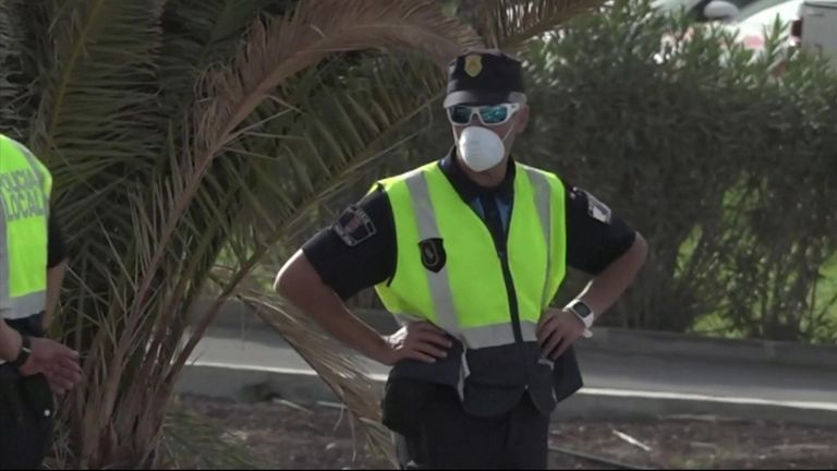 A four-star hotel in Spain's Canary Islands was put on lockdown on Tuesday (February 25), its guests barred from leaving, and staff at reception wore face masks after a coronavirus case was identified there, a hotel guest told Reuters.