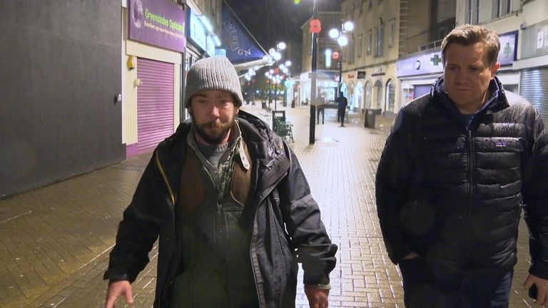 Sky's Nick Martin met Tom during the 2019 election campaign, prompting thousands of pounds of donations