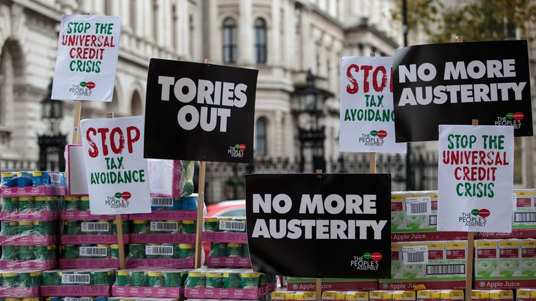 The Conservative policy has been heavily criticised by anti-austerity campaigners