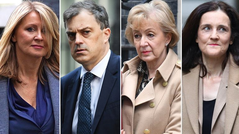 Esther McVey, Julian Smith, Andrea Leadsom and Theresa Villiers