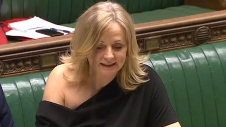 Tracy Brabin raising a point of order in the Commons on Monday follwing Downing Street's decision to order senior journalists from some of the UK's major news organisations to leave before a briefing on Boris Johnson's Brexit plans.
