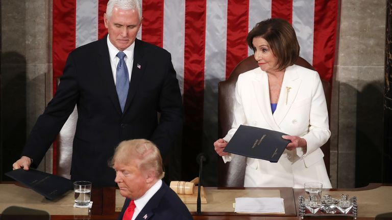 President Trump refused to shake the hand of Nancy Pelosi