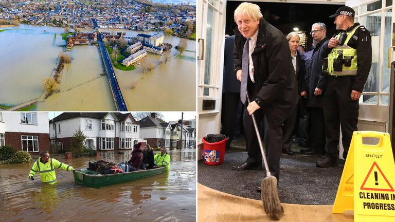 Boris Johnson helped mop up flood water in Derbyshire during last year's general election campaign - but he has been absent from flood areas this year