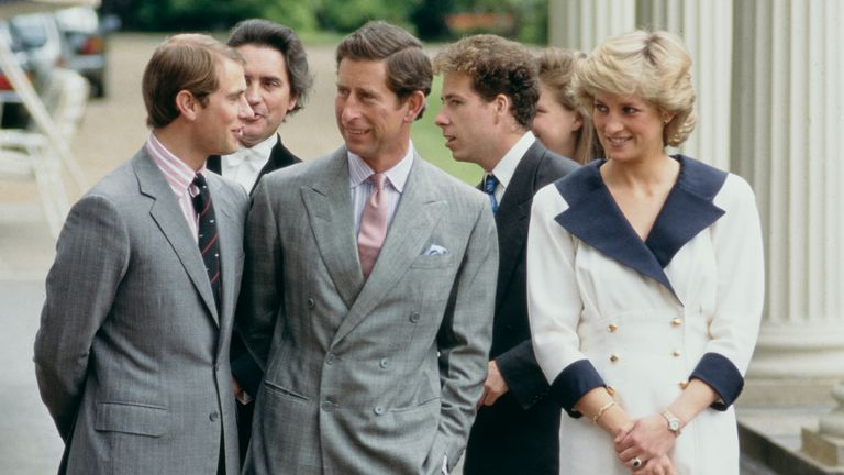 The Earl of Snowdon (third from right) with other royals in August 1987