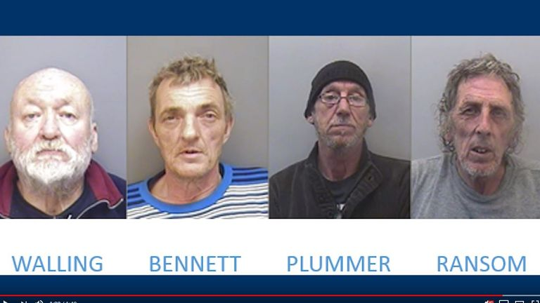 These four men were jailed for people smuggling: Frank Walling, 72, from Colne, Glen Bennett, 55, from Burnley, Keith Plummer, 63, and Jon Ransom, 63, from Kent