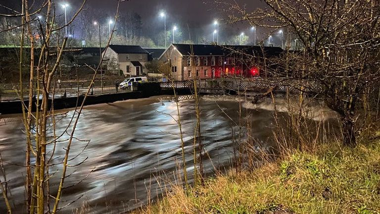 The River Taff at Pontypridd in South Wales