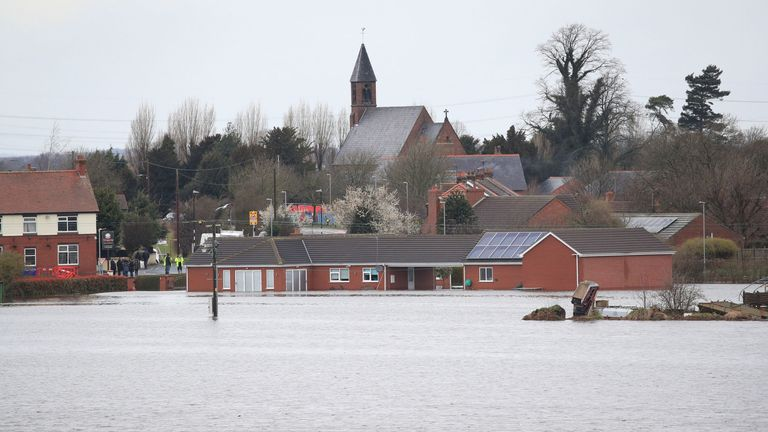 Flooding in East Cowick, Yorkshire