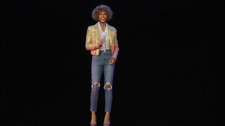 Whitney Houston as a hologram