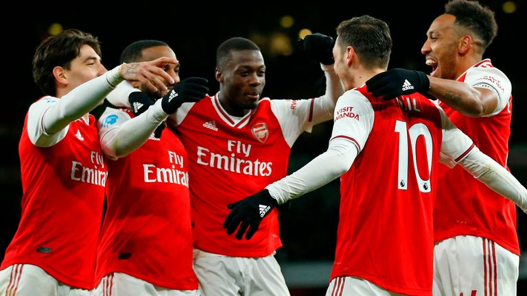 Arsenal scored four second-half goals against Newcastle