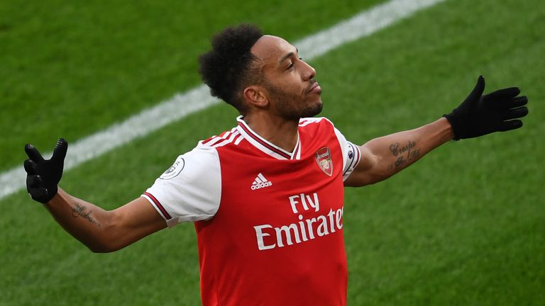 Gary Neville analyses Pierre-Emerick Aubameyang's goal record since his arrival in the Premier League and feels that the Arsenal striker should be included as an elite player in the division
