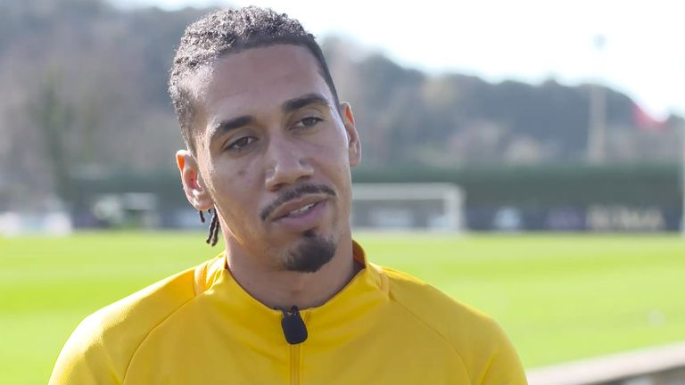 Manchester United defender Chris Smalling says he is has an 'interesting' decision to make over his future when his loan spell at Roma finishes