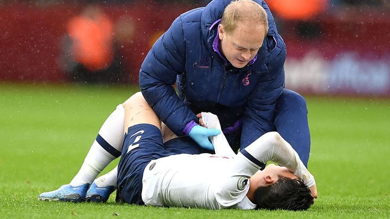 Heung-Min Son fractured his arm in the win over Aston Villa