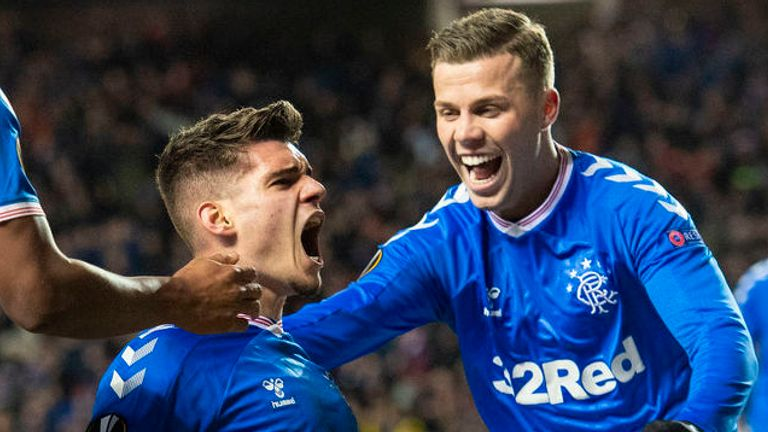Ianis Hagi scored a double on his European debut for Rangers