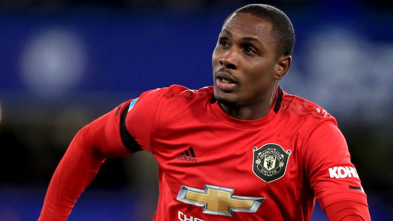 Manchester United's Odion Ighalo in action during the Premier League match at Stamford Bridge