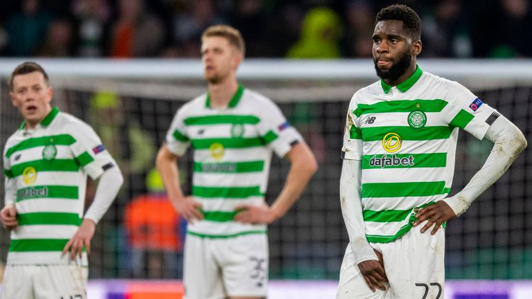 Celtic's Odsonne Edouard is left frustrated during the match against Copenhagen