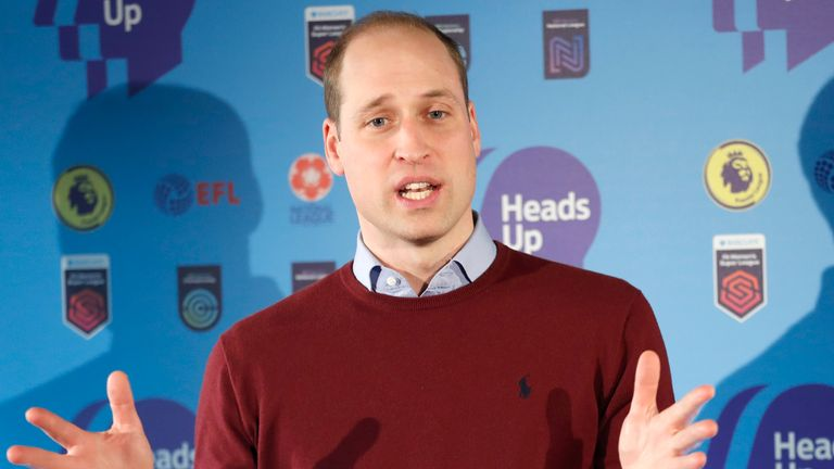 Prince William says football can encourage more conversation around mental health, ahead of a new initiative launched by his 'Heads Up' campaign.