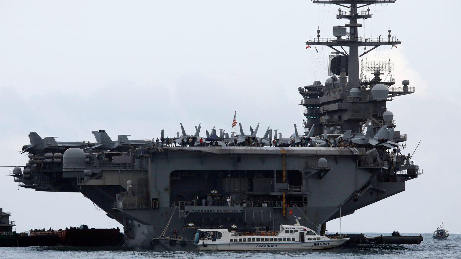 Coronavirus: US warship captain 'relieved of duty' over COVID-19 memo