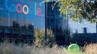 A Google logo and Android statue are seen at the Googleplex in Menlo Park, California on November 4, 2016. / AFP PHOTO / JOSH EDELSON (Photo credit should read JOSH EDELSON/AFP via Getty Images)