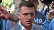 Tommy Robinson was arrested after the altercation. File pic