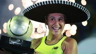 Watson celebrates her victory in Acapulco