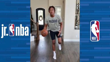 Dribble balance drill with Myles Turner