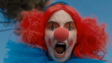 What could be scarier than Villanelle? Villanelle dressed as a clown... Pic. BBC/Killing Eve