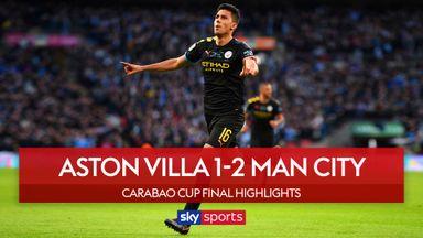 Man City hold off Villa to lift Carabao Cup