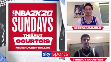 Courtois takes on Hummels in NBA2K20!