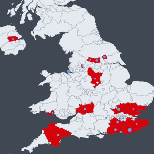 Mapped: Where coronavirus has spread in the UK