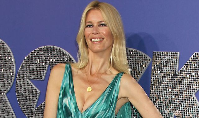 Model Claudia Schiffer hired security to protect her bra and knickers