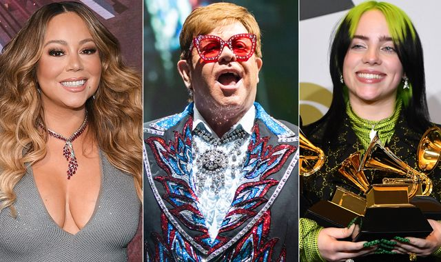 Coronavirus: Elton John to host 'living room' gig featuring Billie Eilish and Mariah Carey