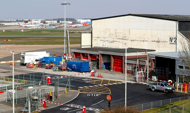 Coronavirus: Temporary mortuary for up to 12,000 bodies being built at Birmingham Airport