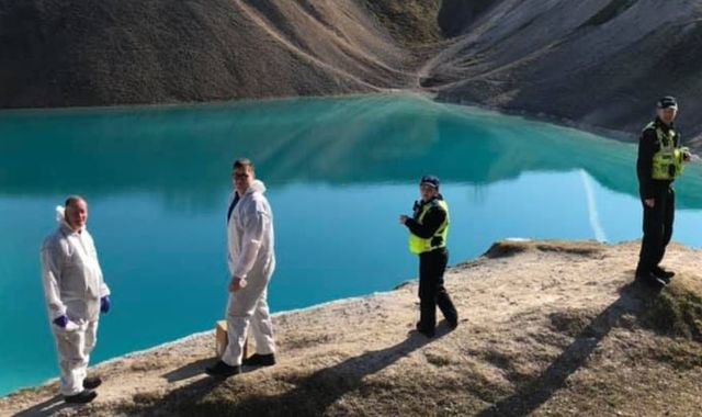 Coronavirus: Derbyshire police dye Buxton 'Blue Lagoon' black to deter gatherings