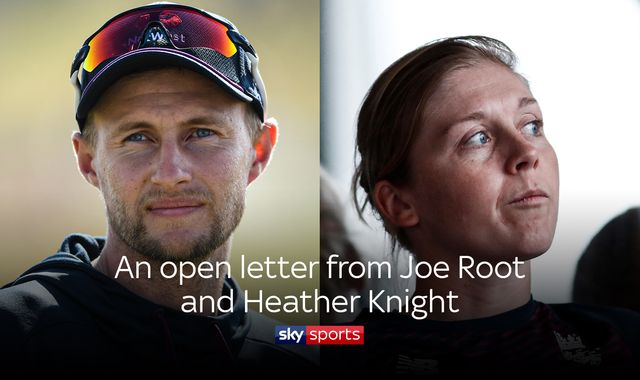 Joe Root and Heather Knight: England captains' open letter to NHS workers, cricket fans and general public
