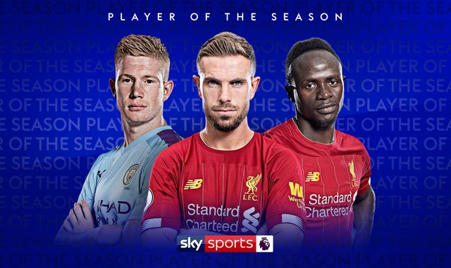 Who is Premier League player of the season 2019/20?