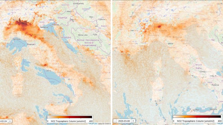 The Copernicus Sentinel-5P satellite monitors air pollution around the world. Picture credit: Santiago Gasso / @SanGasso