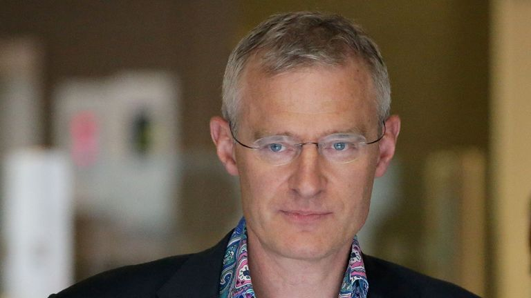 BBC television and radio presenter Jeremy Vine leaves the British Broadcasting Corporation (BBC) studios in central London on July 19, 2017. Britain's public broadcaster BBC came under fire on Wednesday for its gender pay imbalance after it was forced to reveal how much it pays its top-earning talent. For the first time in its 94-year existence, the BBC was this year forced to release a list of its employees paid more than £150,000 ($195,000, 170,000 euros) between 2016/2017, after a change in its charter last year. Vine was one of more than 200 names that fetured on the list -- which includes executives, actors, presenters, writers and technicians. / AFP PHOTO / Daniel LEAL-OLIVAS        (Photo credit should read DANIEL LEAL-OLIVAS/AFP via Getty Images)
