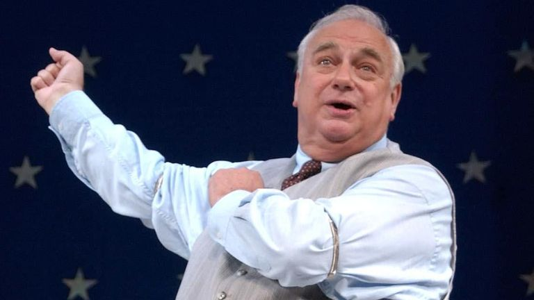 Actor Roy Hudd as Edward McKeever, during a photocall for the new production of 1950s comedy 'The Solid Gold Cadillac' at The Garrick Theatre on Charing Cross Road, central London.