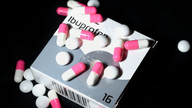Stock photo of Ibuprofen.