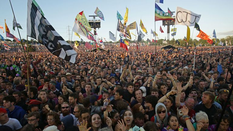 File photo dated 24/06/2016 of crowds at the Glastonbury Festival, at Worthy Farm in Somerset, the festival's 50th anniversary edition has been postponed from June 2020 until 2021 due to the coronavirus pandemic, its organisers have said.