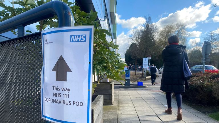 OXFORD, ENGLAND - FEBRUARY 27: Signs directing to a Coronavirus Pod at The John Radcliffe Hospital on February 27, 2020 in Oxford, United Kingdom. (Photo by Finnbarr Webster/Getty Images)