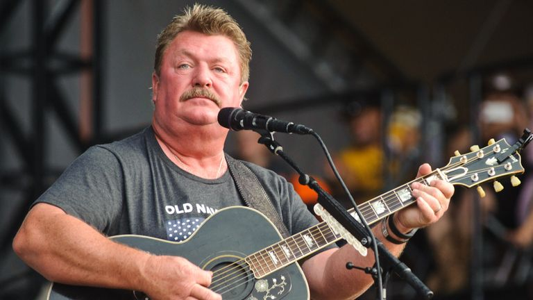 TWIN LAKES, WI - JULY 23:  Joe Diffie performs on Day 3 of Country Thunder Milwaukee on July 23, 2016 in Twin Lakes, Wisconsin.  (Photo by Timothy Hiatt/Getty Images for Country Thunder)