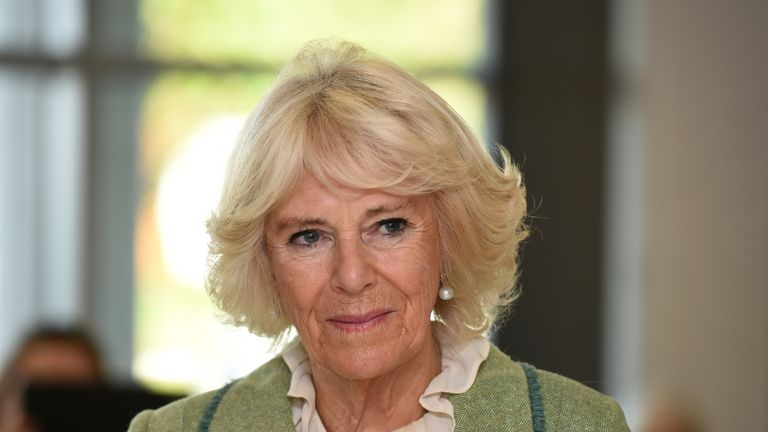BATH, ENGLAND - OCTOBER 22: Camilla, Duchess of Cornwall opens Royal National Hospital for Rheumatic Diseases (RNHRD) and Brownsword Therapies Centre on October 22, 2019 in Bath, England. (Photo by Finnbarr Webster - WPA Pool / Getty Images)