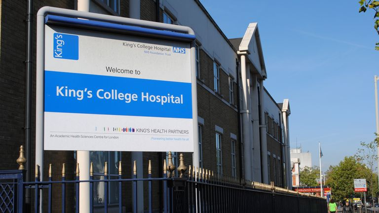 Stock picture of King's College Hospital, Denmark Hill, London.