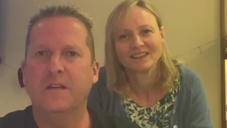 Neil and Victoria Hanlon are on board the Grand Princess vessel where 21 people tested positive for the disease.