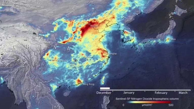 China pollution pictures coronavirus