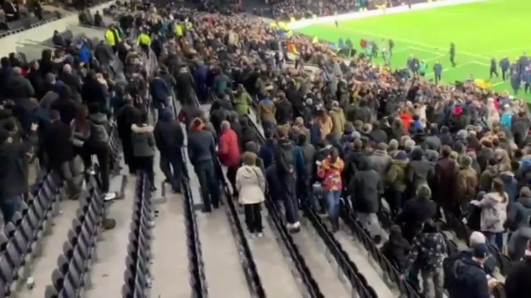 Eric Dier climbs into Tottenham stand for confrontation with supporters