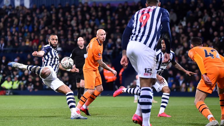 Phillips scored to give West Brom a way back into the game