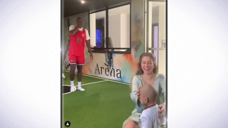 Paul Pogba's wife Maria Zulay tried her hand at the 'Stay at Home' challenge, but things did not quite go to plan...