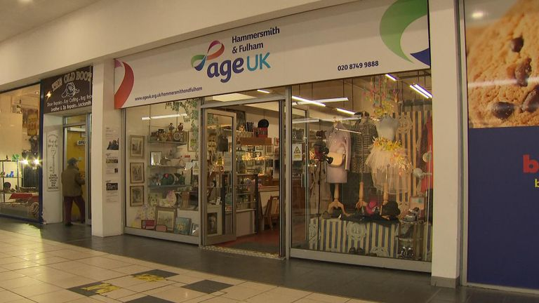 Age UK has seen a drop in visitors to its shops